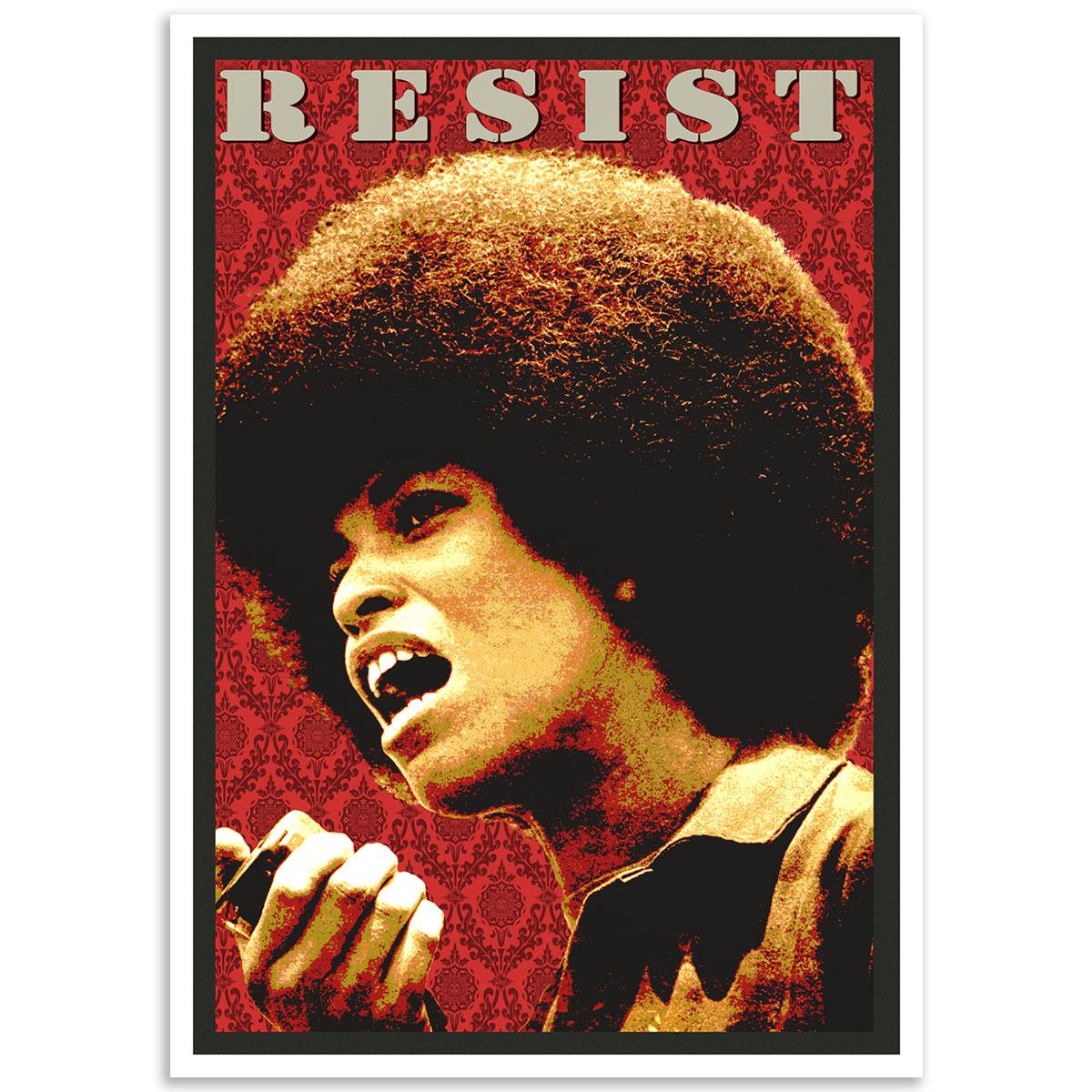 Activist Poster - Angela-Davis - Resist