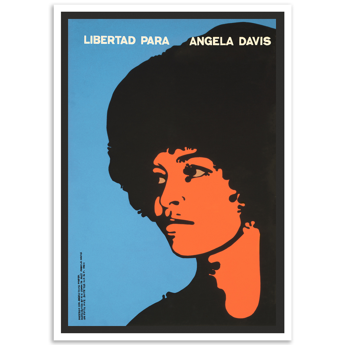 Activist Poster - Freedom for Angela Davis