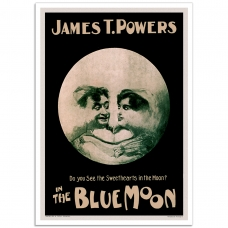 Vintage Theatrical Poster - The Blue Moon - Musical Comedy