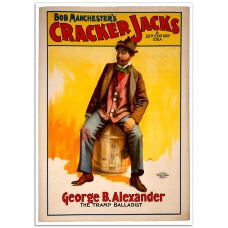 Vintage Theatrical Poster - Bob Manchester's Cracker Jacks - The Tramp Balladist
