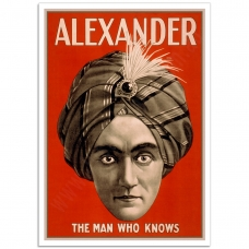 Vintage Theatrical Poster - Alexander the Man Who Knows
