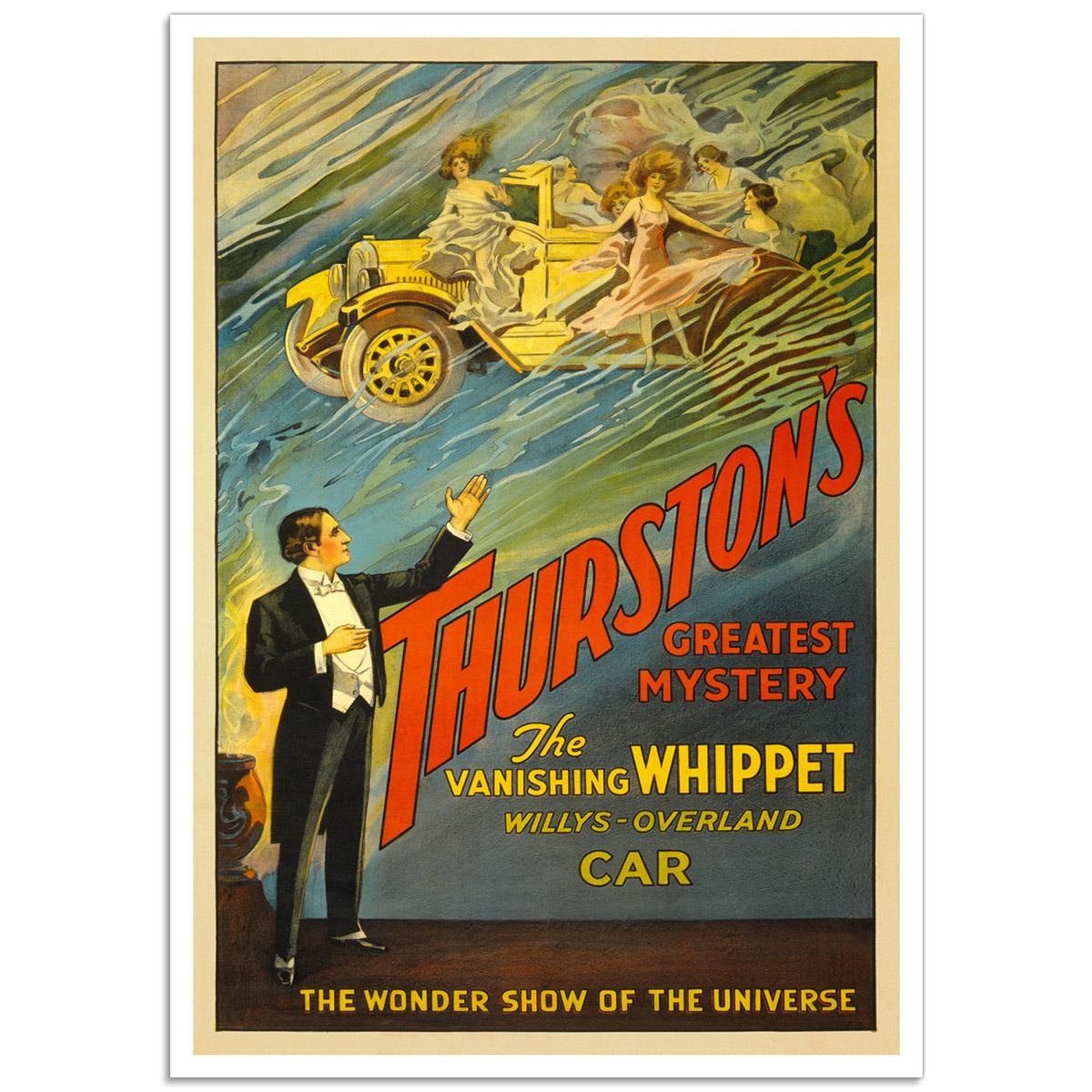 Vintage Theatrical Poster - Thurston's Vanishing Whippet