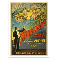 Vintage Theatrical Poster - Thurston's Vanishing Whippet