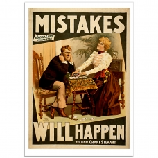 Vintage Theatrical Poster - Mistakes Will Happen