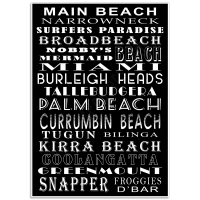 Queensland - Gold Coast Beaches Poster