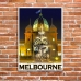 Melbourne Poster - Royal Exhibition Building Fountain