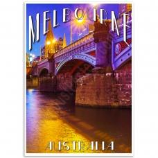 Melbourne Poster - Princes Bridge