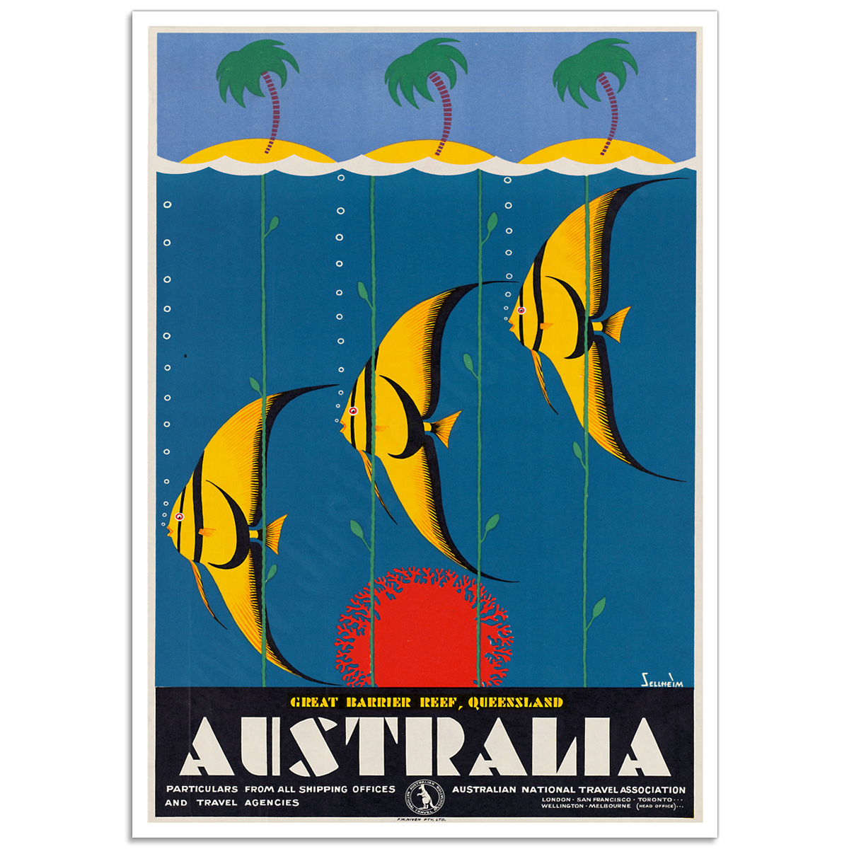 Vintage Travel Poster - Great Barrier Reef