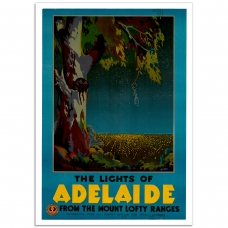 Vintage Travel Poster - Lights of Adelaide