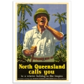 Vintage Travel Poster - North Queensland Calls You