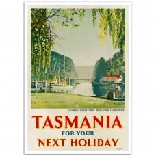 Vintage Travel Poster - Launceston, Tasmania for Your Next Holiday