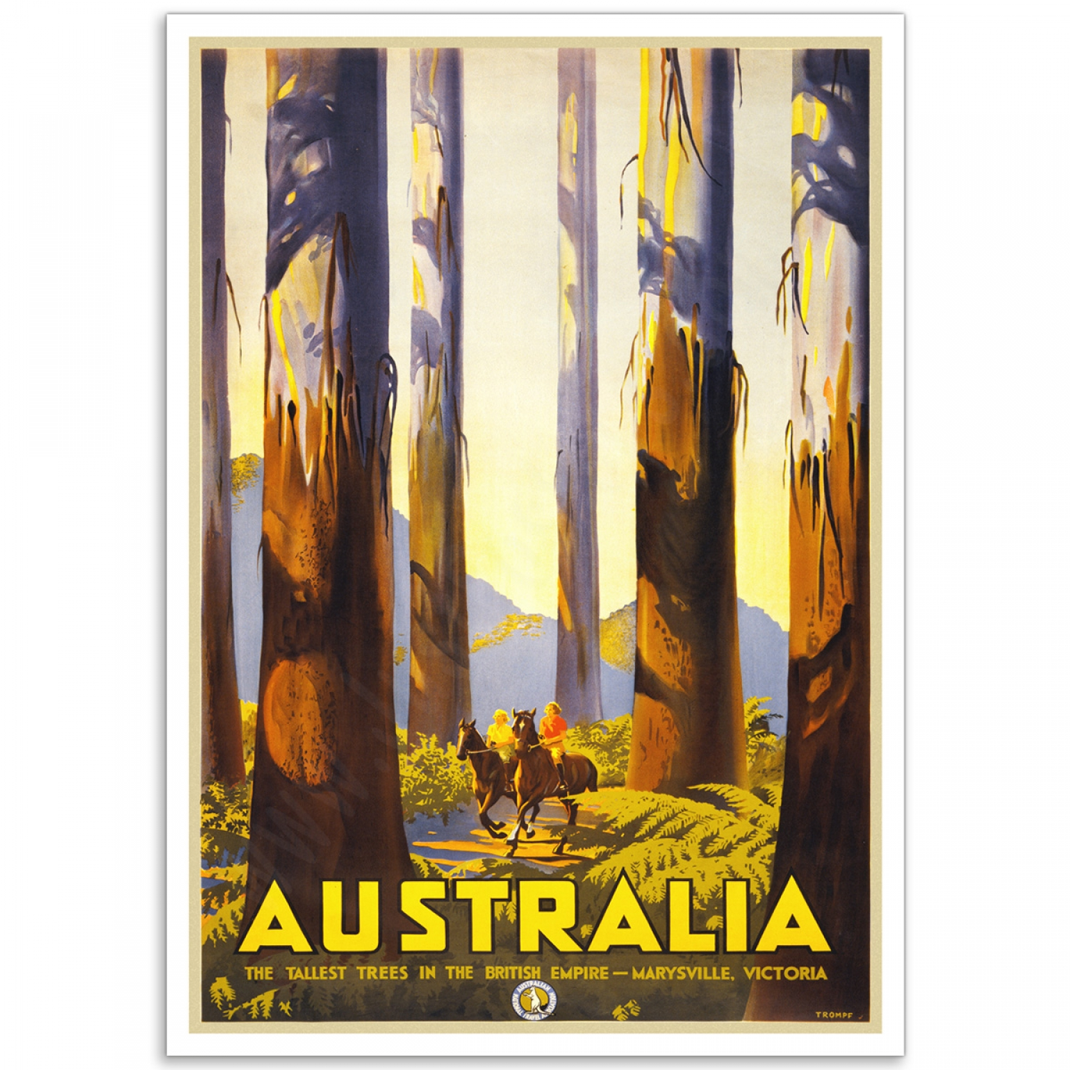 Old Advertising Poster reproduction Victoria