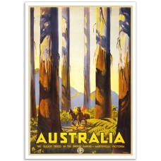Vintage Travel Poster - Marysville Tallest Trees