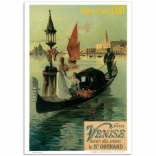 Vintage Travel Poster - De Paris a Venise
