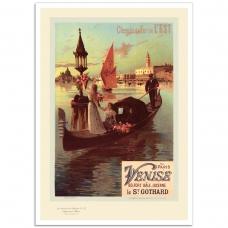Vintage Travel Poster - De Paris a Venise