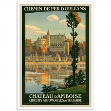 Vintage Travel Poster - Paris - Orleans Railway