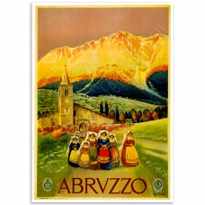 Vintage Travel Poster - Abruzzo