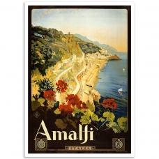 Vintage Travel Poster - Amalfi Coast