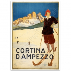 Vintage Travel Poster - Cortina d'Ampezzo