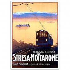 Vintage Travel Poster - Stresa–Mottarone Ferrovia
