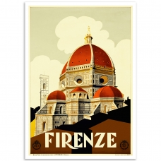 Vintage Travel Poster - Firenze Cathedral