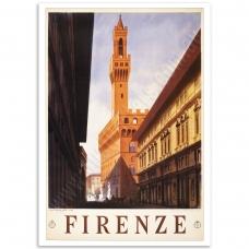 Vintage Travel Poster - Firenze