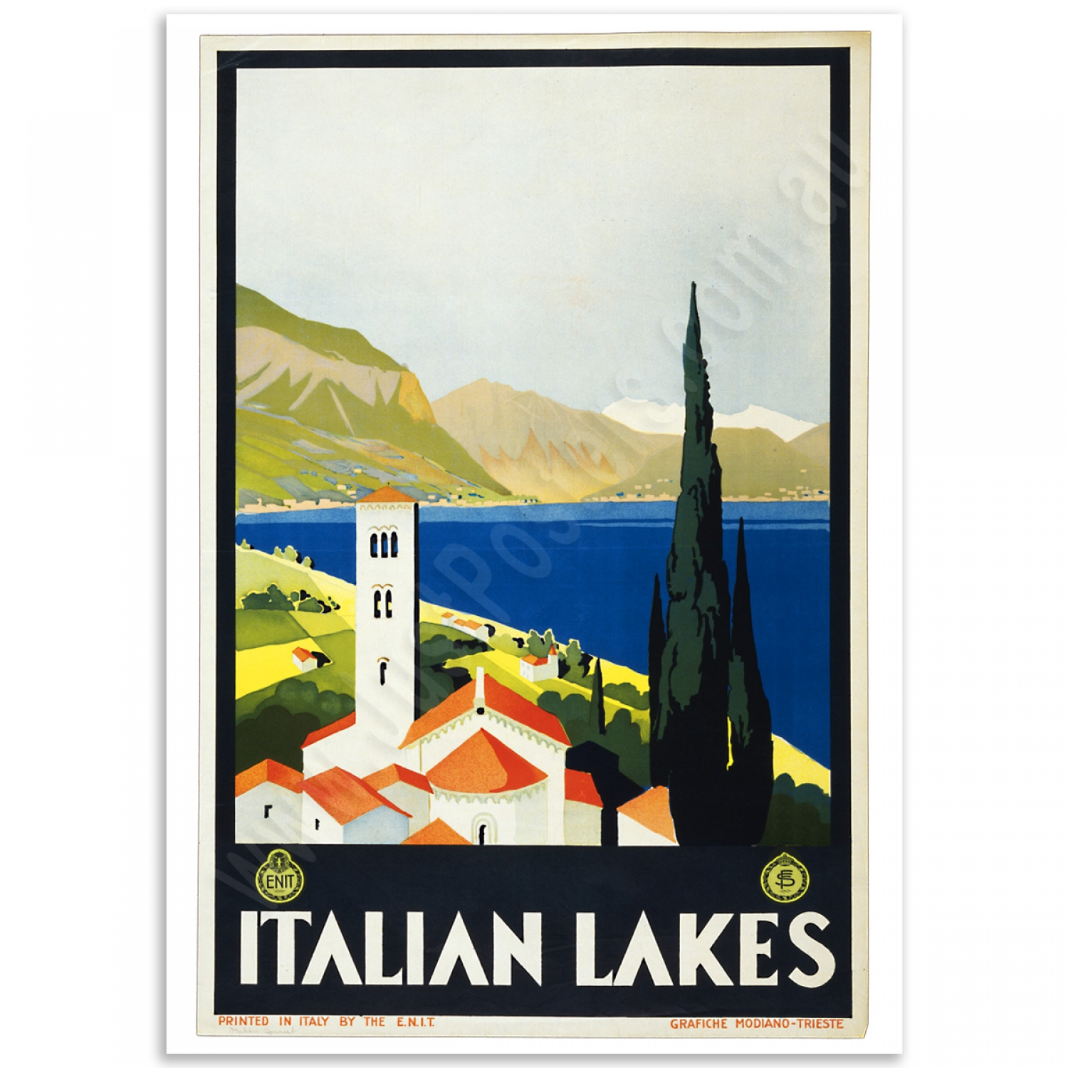Vintage Travel Trailers: Italian Lakes - Vintage Travel Poster