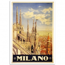 Vintage Travel Poster - Milano