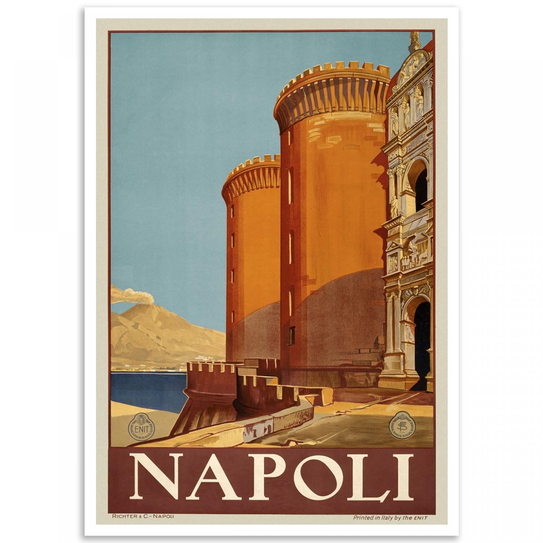 VINTAGE NAPOLI ITALY ITALIAN TRAVEL A4 POSTER PRINT Kunstplakate