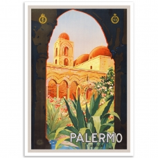 Vintage Travel Poster - Palermo