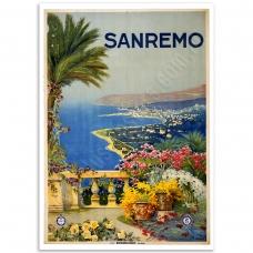 Vintage Travel Poster - San Remo