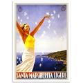Vintage Travel Poster - Santa Margherita Ligure
