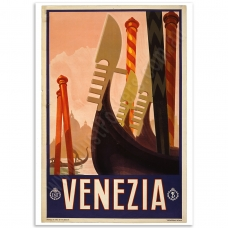 Vintage Travel Poster - Venezia