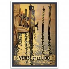 Vintage Travel Poster - Venise et le Lido
