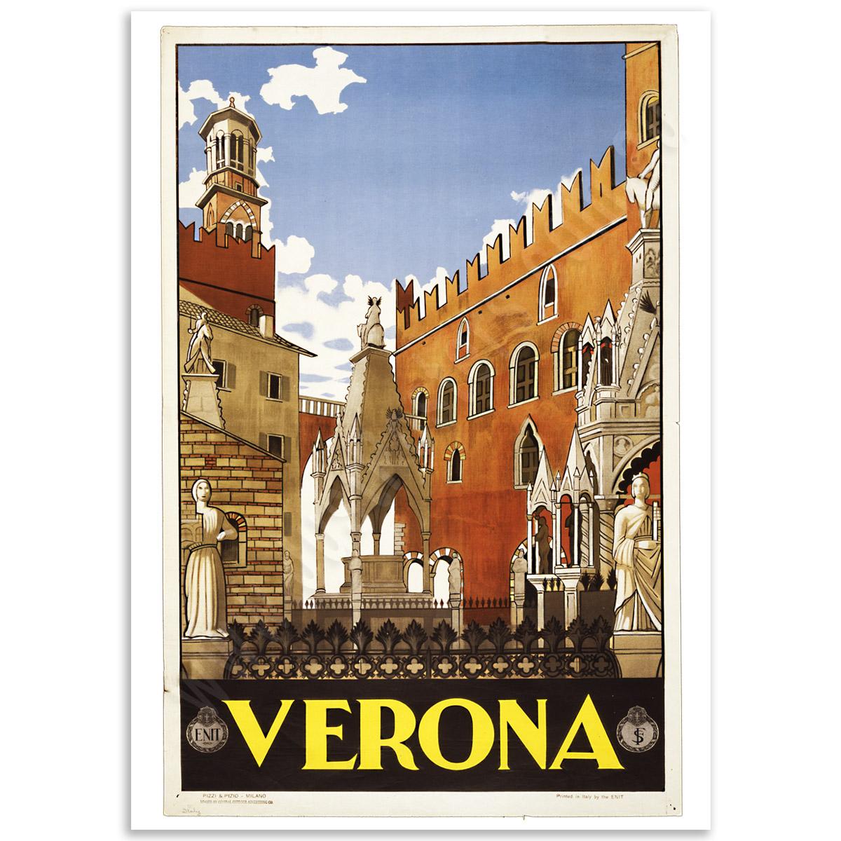 Verona Vintage Italian Travel Poster Just Posters