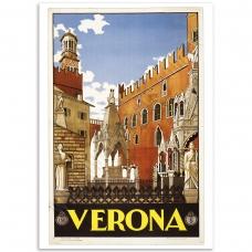 Vintage Travel Poster - Verona