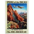 Vintage Travel Poster - Peru of the Incas