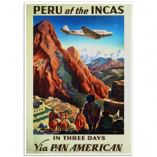 Vintage Travel Poster - Peru of the Incas