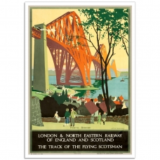 Vintage Travel Poster - 4th Bridge Flying Scotsman
