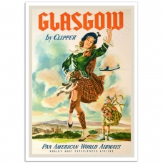Vintage Travel Poster - Glasgow by Clipper