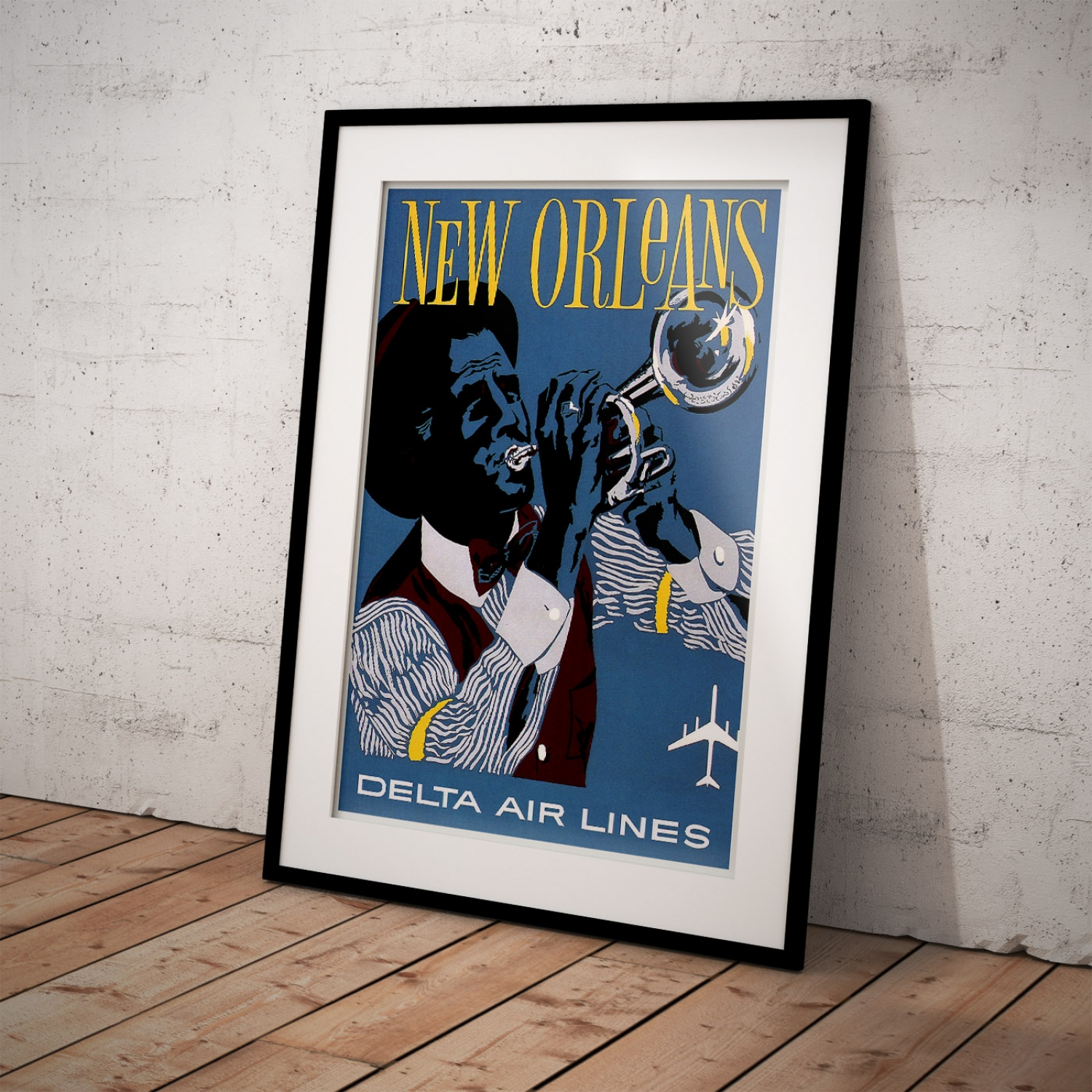 VINTAGE NEW ORLEANS DELTA AIR LINES AMERICA TRAVEL A2 POSTER PRINT