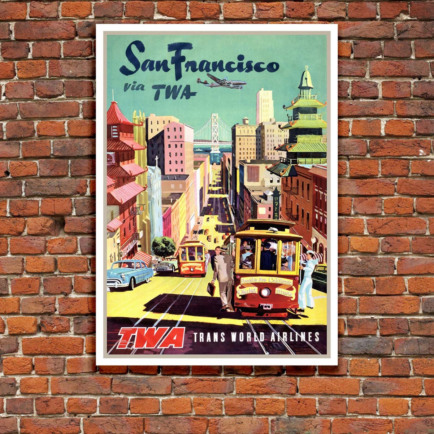 Vintage  T.W.A...NEW YORK ...Travel Poster   A1,A2,A3,A4 Sizes