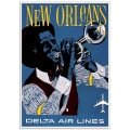 Vintage Travel Poster - New Orleans - Delta Air Lines