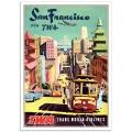 Vintage Travel Poster - San Francisco Via TWA
