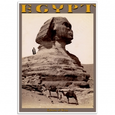 Vintage Photographic Poster - Sphinx of Giza