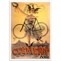 Vintage French Promotional Poster - Cycles Clement Paris