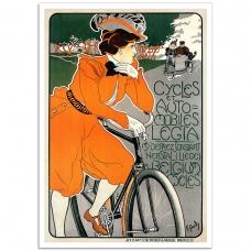 Vintage Bicycle Promotional Poster - Cycles et Automobiles Legia