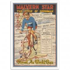 Vintage Bicycle Poster - Malvern Star Opperman