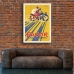 Vintage Bicycle Promotional Poster - Favor Cycles