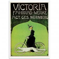 Vintage German Bicycle Poster - Victoria Fahrrad Werke AG